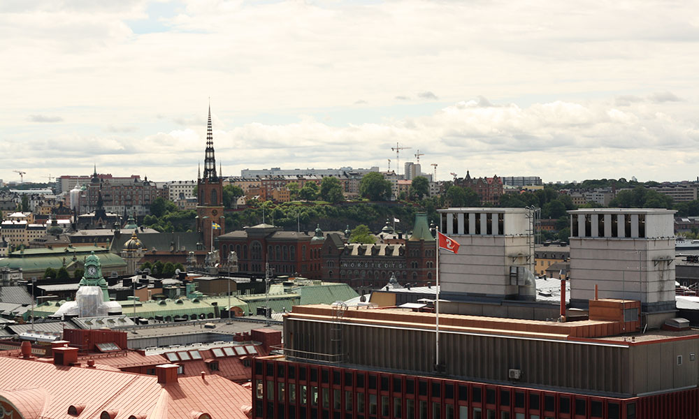 At six hotell i Stockholm