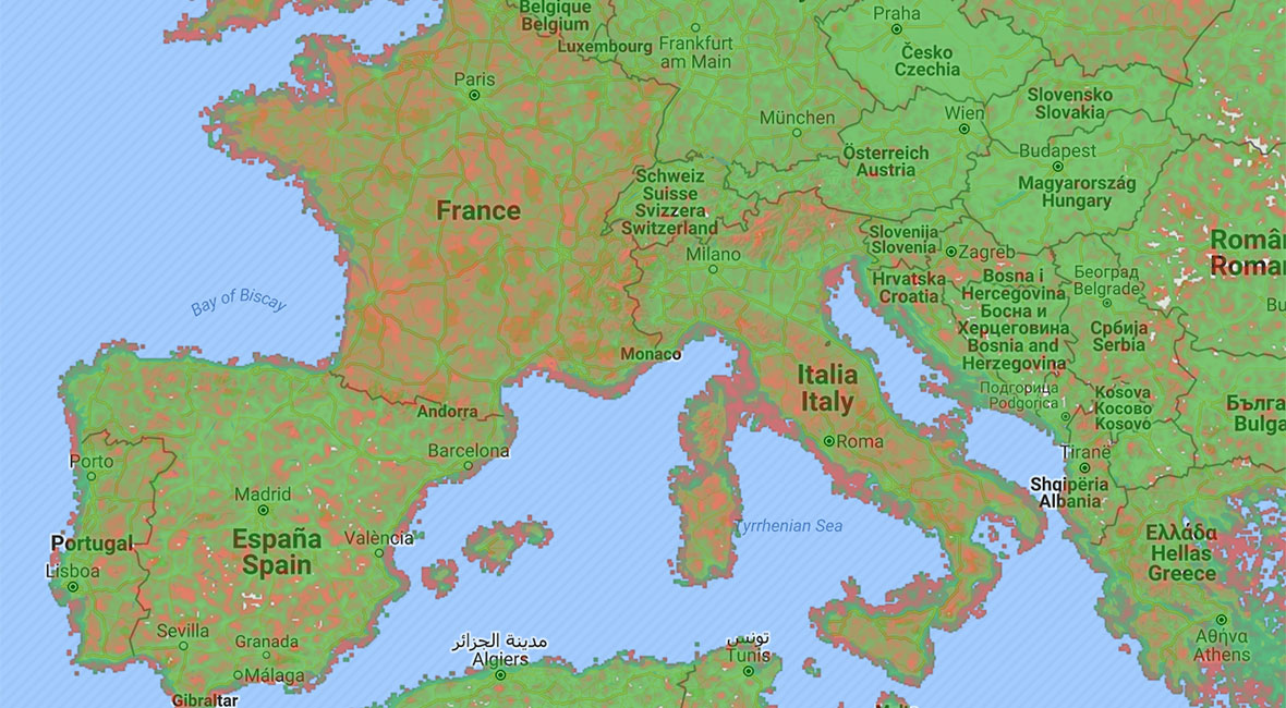 Mobiltäckning i Europa