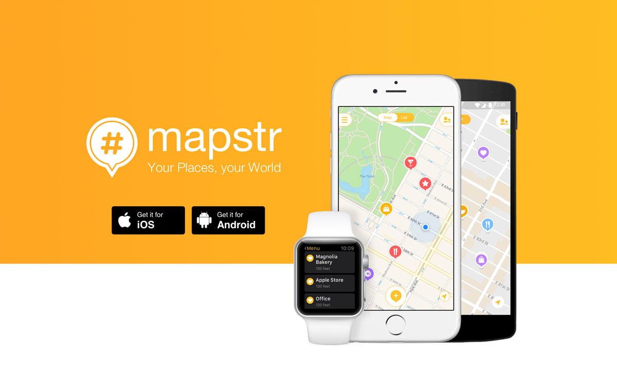 Med Mapstr organiserar jag tips om platser att besöka