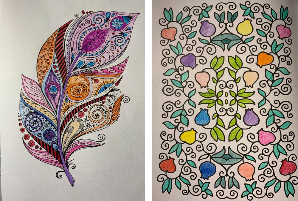 målarbok för vuxna mindfulness