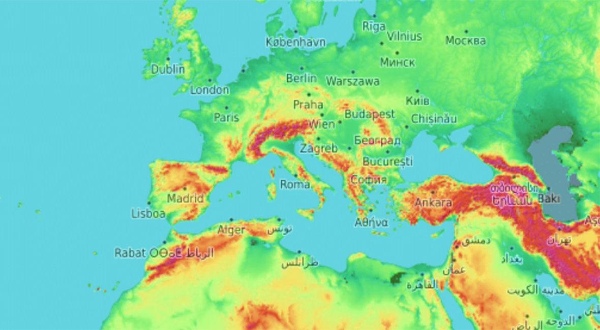 topografisk karta online
