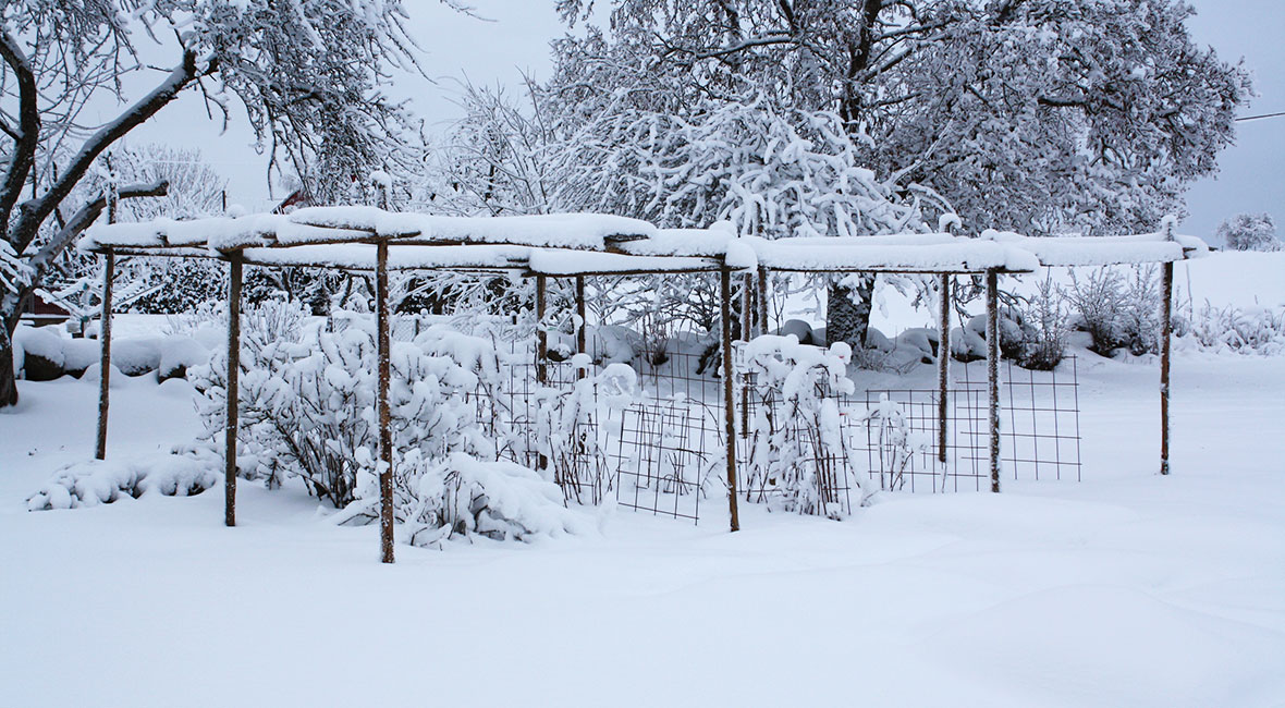 bo i husbil på vintern