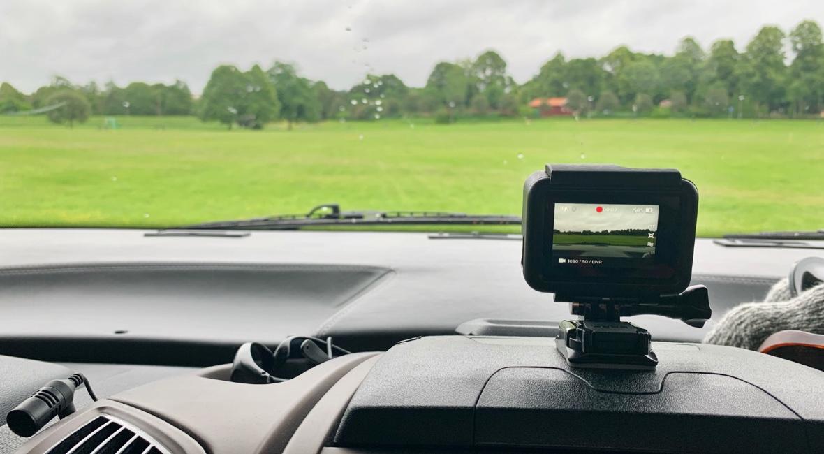 GoPro används i husbilen