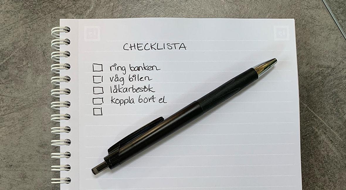 checklista boihusbil