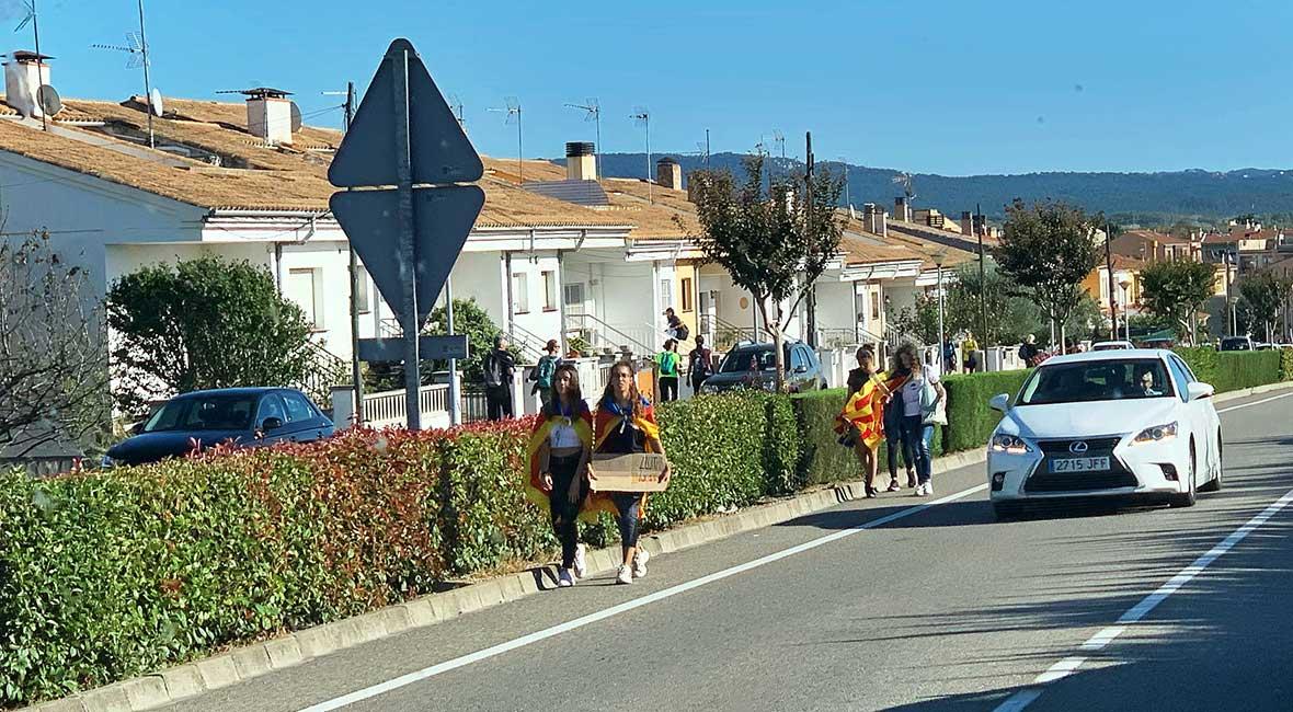 demonstranter Katalonien