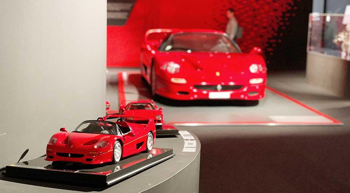 Ferrarimuseet i Ferraristaden Maranello