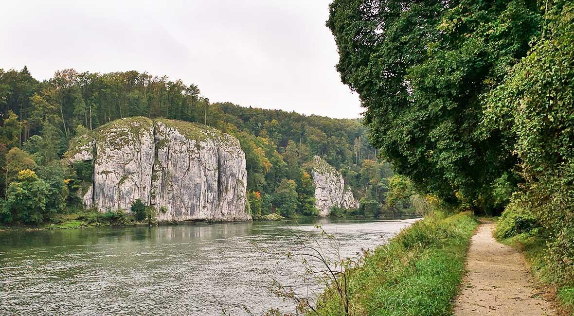 Cykelväg utmed Donau