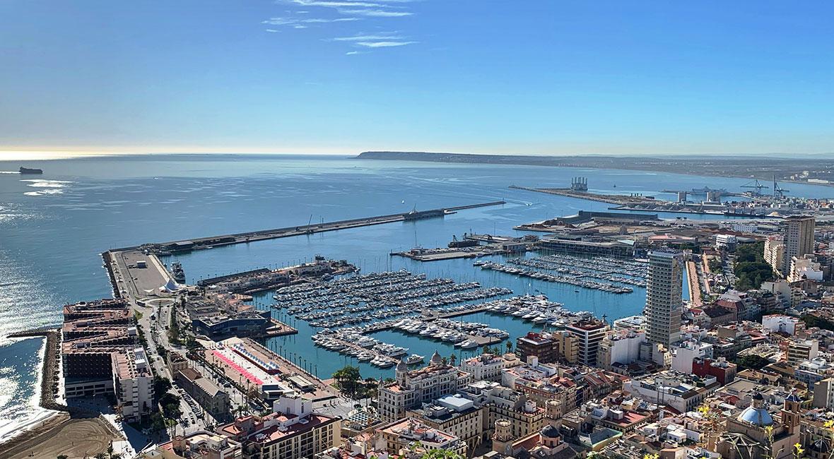 Härliga vyer i Alicante