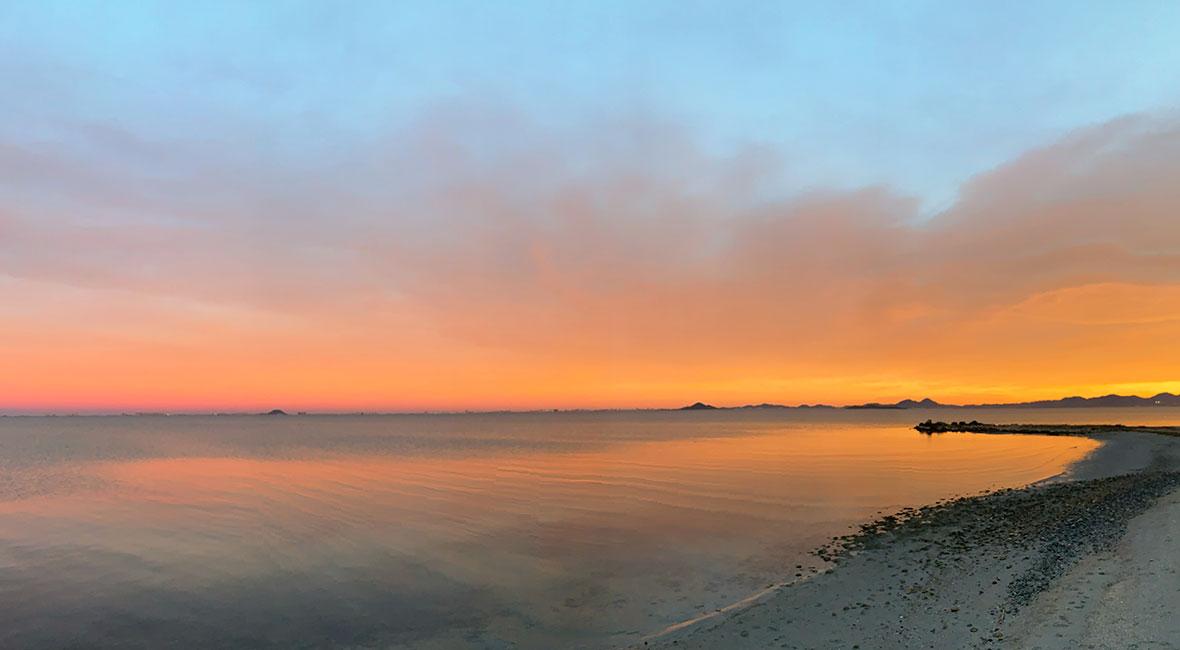 solnedgång los alcazares