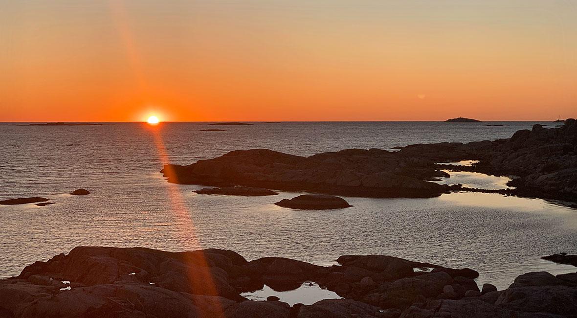 solnedgång Fotö