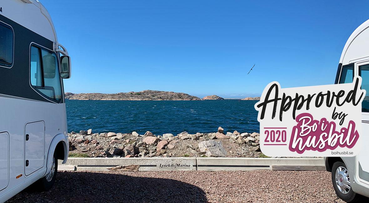 Lysekils Marinas ställplats är havsnära och godkänd!