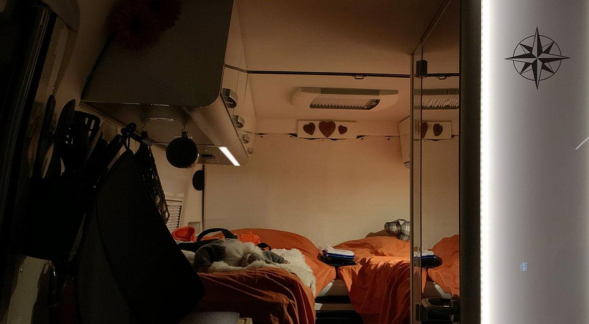 Sovrummet -> plåtis kontra husbil del 2
