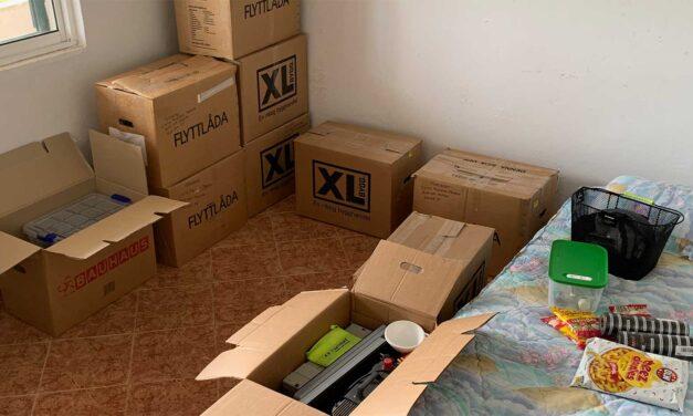 Flytt av grejer från Sverige till Portugal
