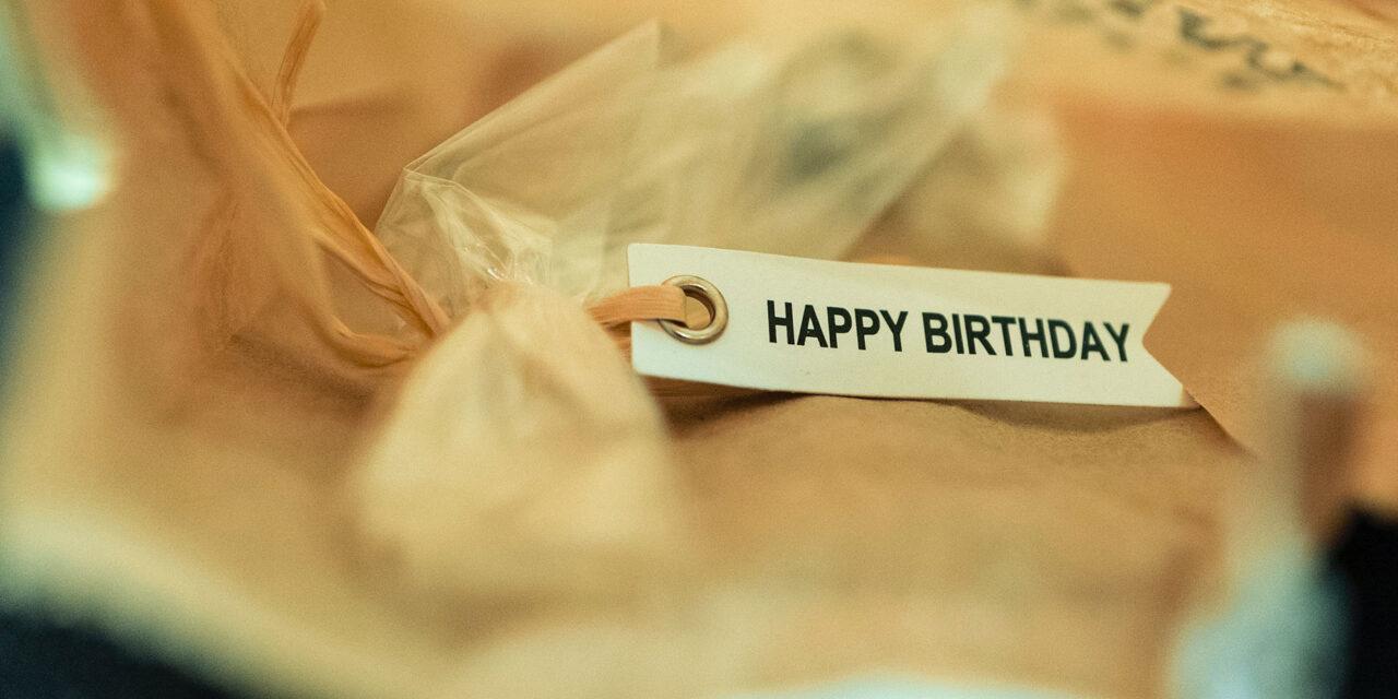 Kan bli många paket på min födelsedag!