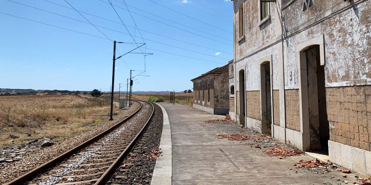 En nerlagd tågstation