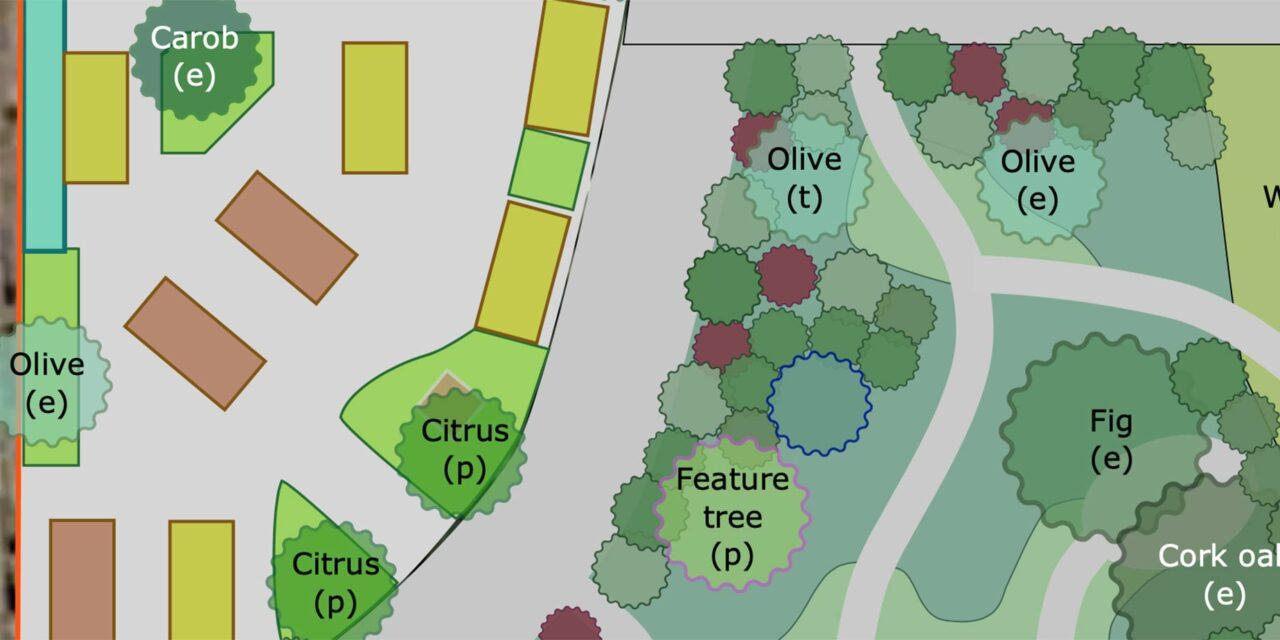 Projekt: Layout för trädgården