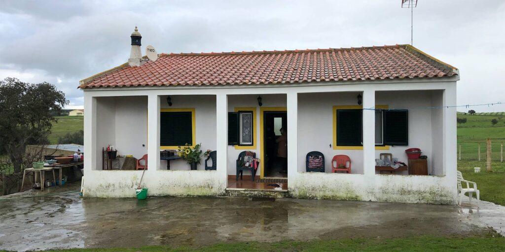Huset vid visning i januari